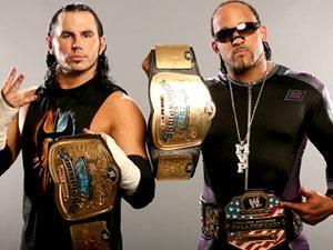 Matt Hardy y MVP en foto de archivo.